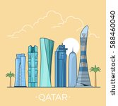 qatar country design template.... | Shutterstock .eps vector #588460040