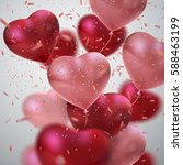 balloon hearts. vector holiday... | Shutterstock .eps vector #588463199