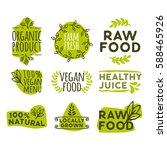 hand drawn retro set of organic ...   Shutterstock .eps vector #588465926