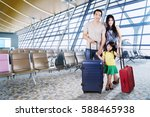 image of asian family carrying... | Shutterstock . vector #588465938
