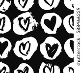 seamless pattern with hearts.... | Shutterstock .eps vector #588466229