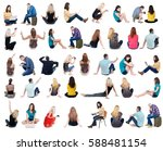 collection back view of... | Shutterstock . vector #588481154