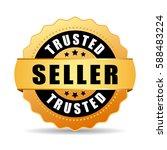 trusted seller gold vector eps... | Shutterstock .eps vector #588483224