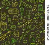 st.patrick 's day . seamless...   Shutterstock .eps vector #588485768