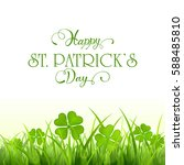 nature background with clover...   Shutterstock . vector #588485810