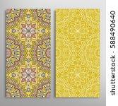 vertical seamless patterns set  ... | Shutterstock .eps vector #588490640