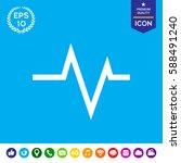 ecg wave   cardiogram symbol....   Shutterstock .eps vector #588491240