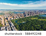 aerial view of central park and ... | Shutterstock . vector #588492248