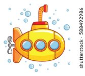 submarine with air bubbles... | Shutterstock .eps vector #588492986