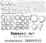 Set Of Speech Bubble Hand Drawn ...