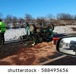 car crash accident on the road | Shutterstock . vector #588495656