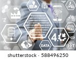 digital industry 4.0 concept... | Shutterstock . vector #588496250
