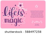 magical vector template with... | Shutterstock .eps vector #588497258