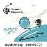 freehand drawn illustration... | Shutterstock .eps vector #588498704