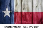 Texas Flag On Wood Texture...