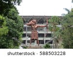 Small photo of JAKARTA, INDONESIA - January 29, 2017: The Archer Statue at Gelora Bung Karno Senayan.