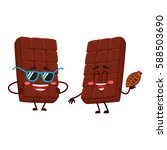 two funny chocolate bar... | Shutterstock .eps vector #588503690