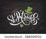 vector illustration of happy... | Shutterstock .eps vector #588504920
