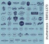 icon logo set vector collection | Shutterstock .eps vector #588511370