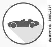 flat grey convertible car icon... | Shutterstock .eps vector #588511889