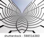 curvilinear structure of steel... | Shutterstock . vector #588516383