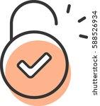 opened lock icon