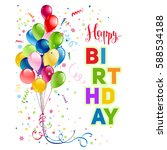 happy birthday holiday card | Shutterstock .eps vector #588534188