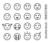 emoticon icon vector set | Shutterstock .eps vector #588537800
