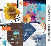 set of abstract vector... | Shutterstock .eps vector #588539204