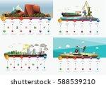 low polygon industry... | Shutterstock .eps vector #588539210