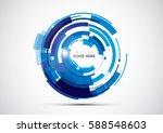 vector of modern abstract... | Shutterstock .eps vector #588548603