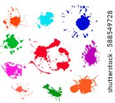 splash paint blot vector  | Shutterstock .eps vector #588549728
