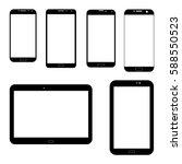 Set Of Electronics Icons  Blac...