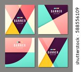 set of banner templates. bright ... | Shutterstock .eps vector #588556109
