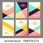 set of banner templates. bright ... | Shutterstock .eps vector #588556274