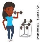 african american sportswoman... | Shutterstock .eps vector #588556724