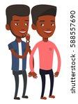 african american man shielding... | Shutterstock .eps vector #588557690