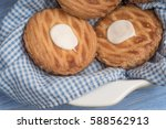 whole wheat tarts with... | Shutterstock . vector #588562913