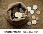 Coins In A Sack And Some Coins...