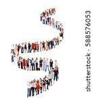 concept image people in queue    Shutterstock . vector #588576053
