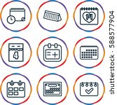 appointment icons set. set of 9 ... | Shutterstock .eps vector #588577904