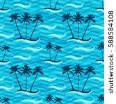 seamless pattern of tropic...   Shutterstock .eps vector #588584108