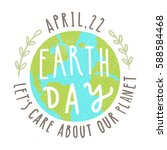 earth day. 22 of april. vector... | Shutterstock .eps vector #588584468
