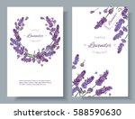 vector lavender flower banners... | Shutterstock .eps vector #588590630