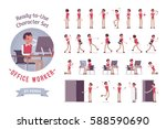 ready to use character set.... | Shutterstock .eps vector #588590690
