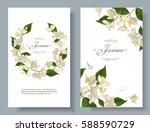 vector jasmine flower banners.... | Shutterstock .eps vector #588590729