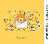 flat line modern corporate... | Shutterstock .eps vector #588591440