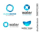 set of vector logos. sign for... | Shutterstock .eps vector #588592280