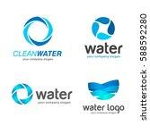 set of vector logos. sign for... | Shutterstock .eps vector #588592280