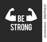 """be strong"" inspirational quote ... 